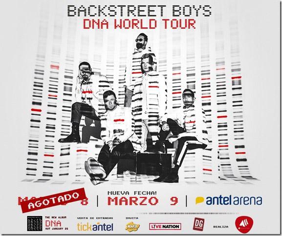BACKSTREET BOYS en URUGUAY DNA WORLD TOUR NUEVA FECHA 9 de MARZO ANTEL ARENA
