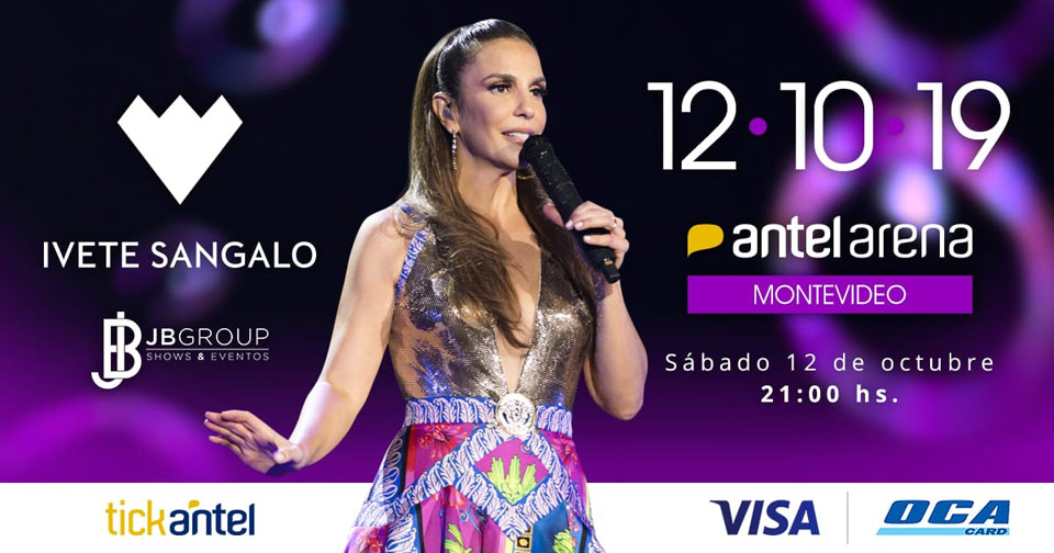 """Este sábado 12 de octubre llega a Montevideo, presentando su nuevo y espectacular show """"Live Experience"""", Ivete Sangalo. Una de las principales artistas de Brasil, esta vez su concierto será en el Antel Arena, a las 21 hs., ."""