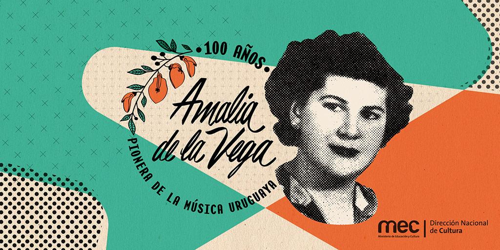 En este 2019 se conmemoran 100 años del nacimiento de María Celia Martínez Fernández. Esta virtuosa cantante y compositora uruguaya, que se hizo popular con el seudónimo de Amalia de la Vega, nació el 19 de enero de 1919 en la ciudad de Melo, Cerro Largo. Su estilo folclórico rural generó un legado musical, que ofició de inspiración para diversos referentes de la música popular de nuestro país, entre ellos Alfredo Zitarrosa.