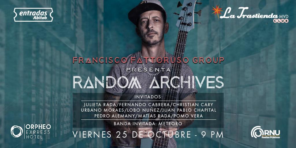 Francisco Fattoruso llega a Uruguay a presentar su último álbum el viernes 25 de Octubre en La Trastienda.
