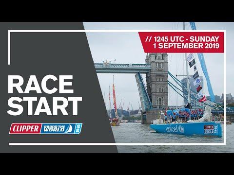 El velero Punta del Este comenzó la regata alrededor del mundo Clipper Race 2019, que llegará a Uruguay por segunda vez en la segunda quincena de octubre.