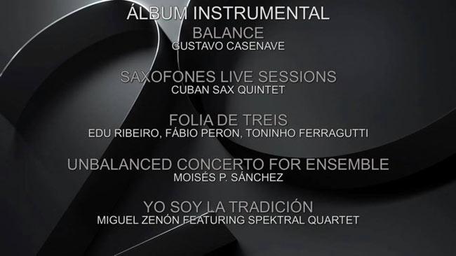 Gustavo Casenave Mejor Álbum Instrumental #LatinGRAMMY