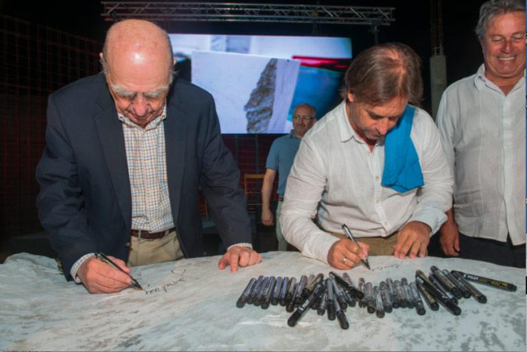 Fotografías Colocación de la piedra fundamental del Museo de Arte Latinoamericano- Fundación Atchugarry. Enero 202o- Fotos Nicolas Vidal.