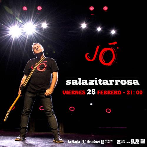 El músico español JÓ presenta en Uruguay su gira Latinoamericana y nuevo álbum REDENCIÓN acompañado con su banda y músicos uruguayos invitados.