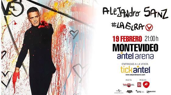 ALEJANDRO SANZ en URUGUAY 19 DE FEBRERO – ANTEL ARENA