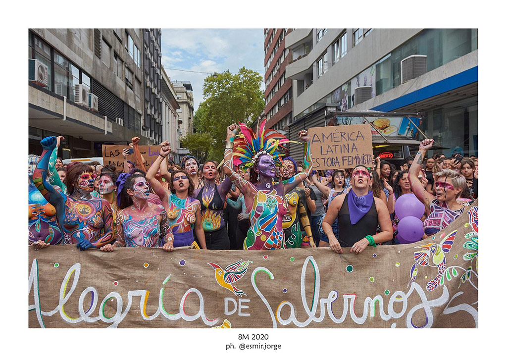 #8M – 2020 - DÍA INTERNACIONAL DE LA MUJER - 18 de julio - Montevideo - Foto © Esmir Jorge www.cooltivarte.com