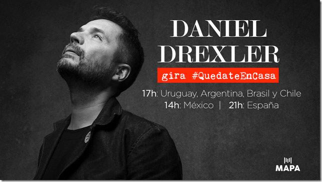 Concierto de la gira QuedateEnCasa Daniel Drexler