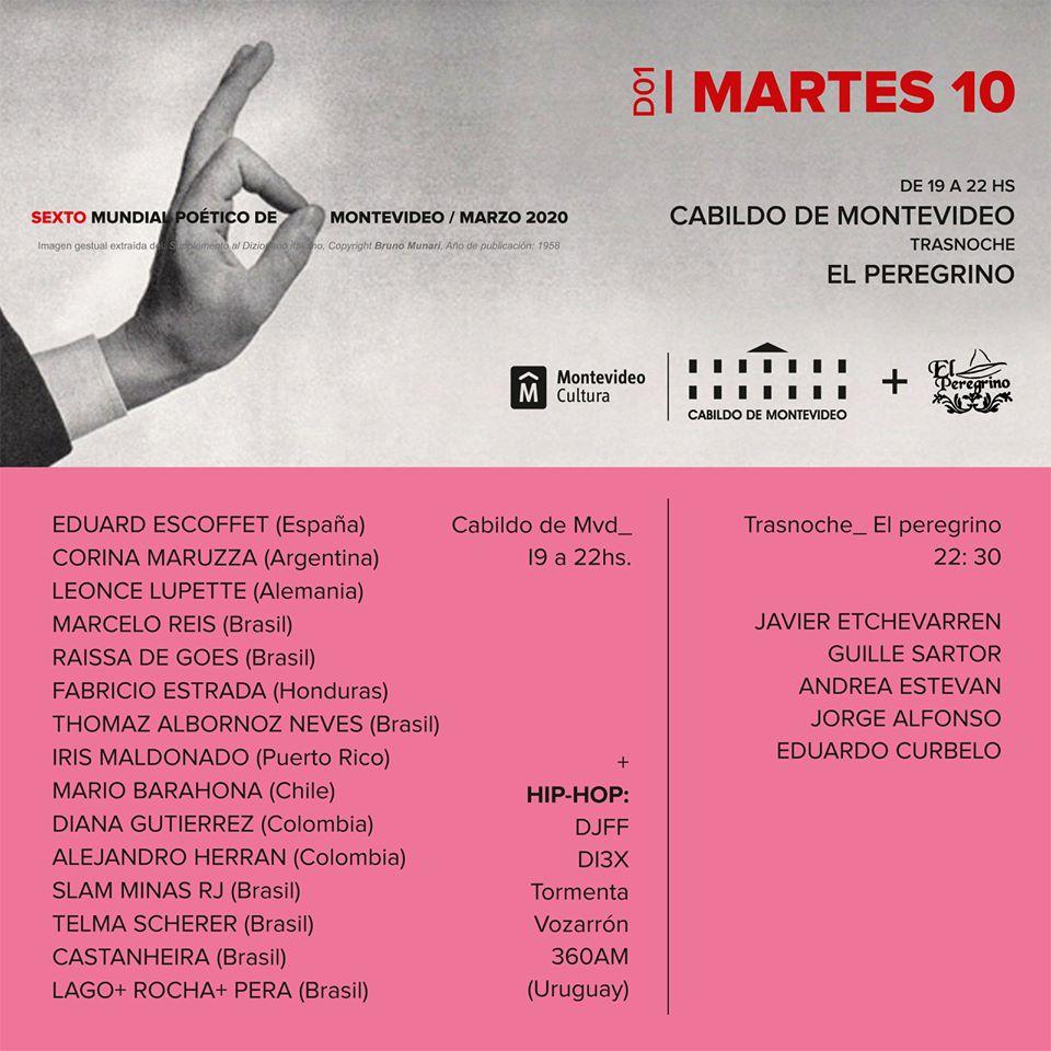 Mundial Poético de Montevideo 2020- DIA 01