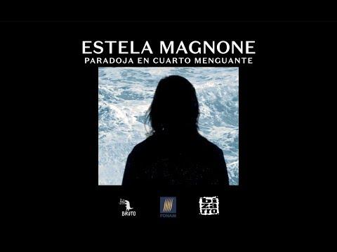 """""""Paradoja en cuarto menguante"""", canción incluida en su álbum """"Siestas De Mar De Fondo"""".Estela Magnone"""