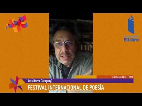 Luis Bravo (Uruguay) dice su poesía en el Festival Internacional de Poesía de Buenos Aires, FIL Buenos Aires 2020.