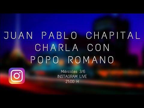 Cuarentena sessions. Charlas del músicoJuan Pablo Chapital con diversos músicos uruguayos. Tercera parte con Popo Romano