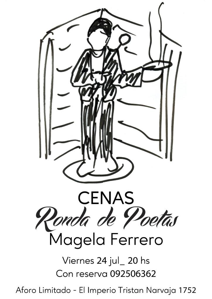 CENAS Ronda de poetas presenta a Magela Ferrero. Chef, Suraia Abud.