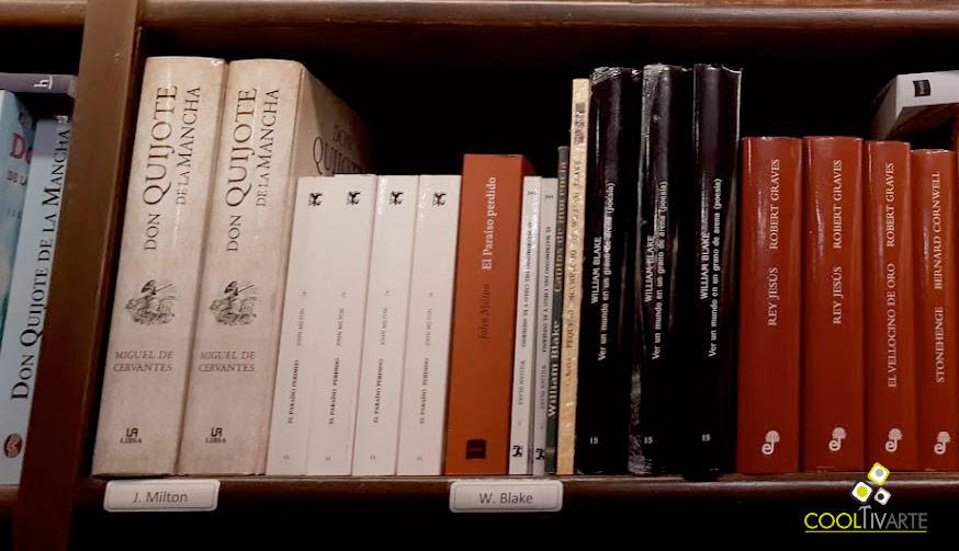 don quijote de la mancha- imagen de biblioteca - librería mundos invisibles - foto © federico meneses www.cooltivarte.com