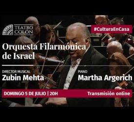 La Filarmónica de Israel junto a Martha Argerich y  Zubin Mehta