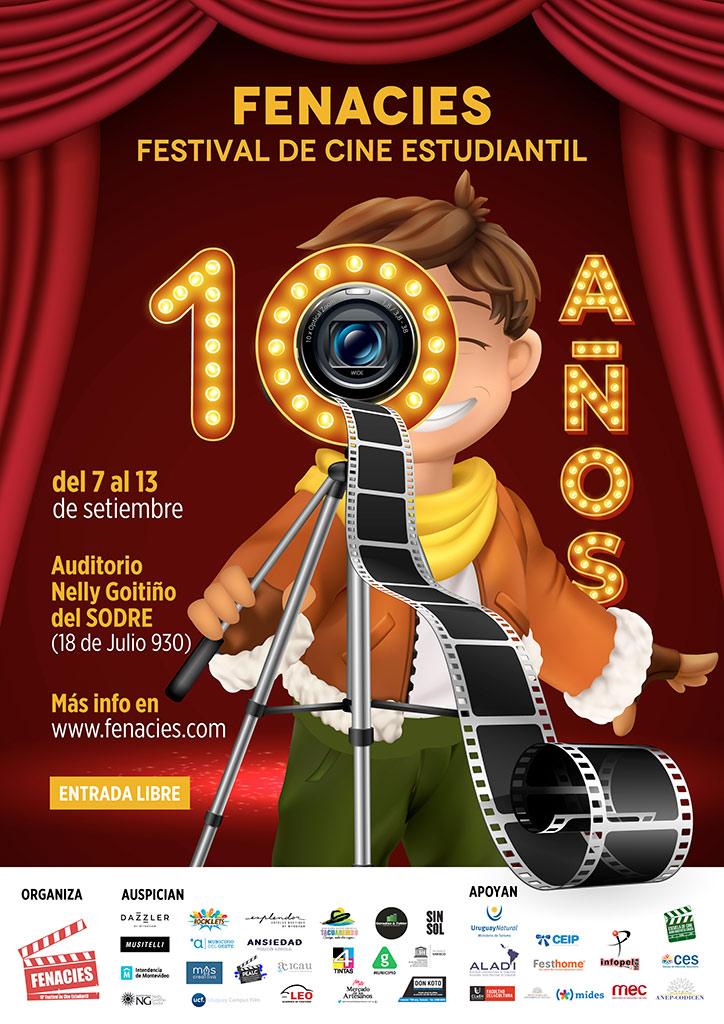 """Desde el 7 al 13 de setiembre se estará llevando a cabo la décima edición del Festival de Cine Estudiantil """"FENACIES"""". Será en el Auditorio Nelly Goitiñio del Sodre, y la entrada no tendrá costo."""