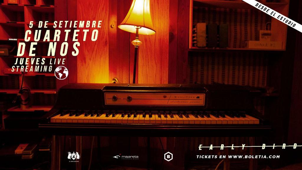 CUARTETO DE NOS anuncia su primer LIVE STREAMING MUNDIAL #JuevesLiveStreaming