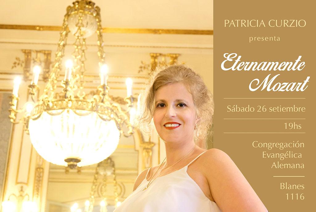 """PATRICIA CURZIO presenta """"Eternamente Mozart"""""""