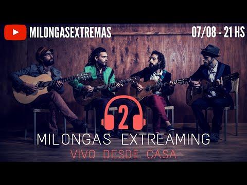 Milongas Extreaming nació a pedido. Nos copamos con la primera sesión y por eso este viernes 07/08 se va la segunda, en vivo desde casa.