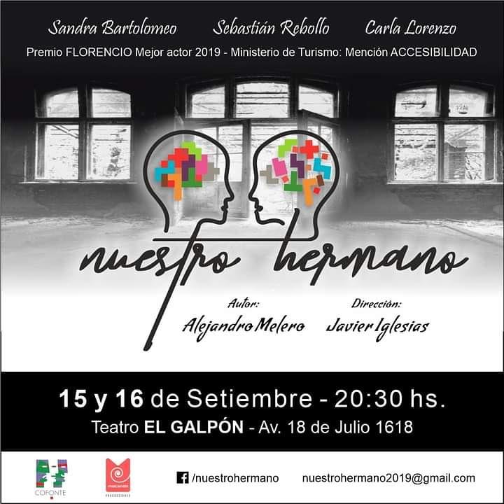 Ciclo Teatro a Puertas Abiertas presenta: Nuestro hermano Autor: Alejandro Melero Dirección: Javier Iglesias