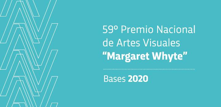 El Instituto Nacional de Artes Visuales de la Dirección Nacional de Cultura (MEC), llama a interesados en participar del 59° Premio Nacional de Artes Visuales, concurso que convoca a artistas de todo el país con el fin de exhibir y premiar aquellas obras que sean seleccionadas. En esta oportunidad se designa al 59° Premio Nacional de Artes Visuales con el nombre de Margaret Whyte, artista nacida en 1936 en Montevideo, Uruguay.