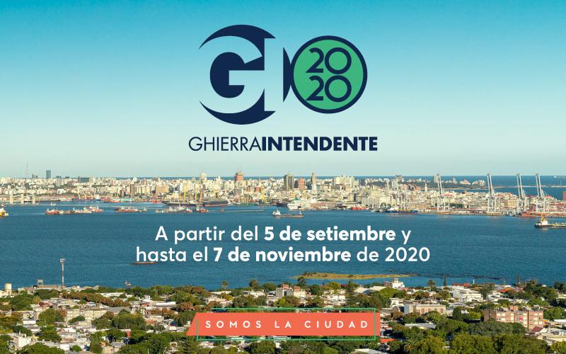 Ghierra Intendente 2020 Somos la ciudad EAC + Sala Miguelete + Fotogalería CdF + Casa de Residencias + Sala Video + Plaza Arenal Grande + Plaza República A partir del 5 de setiembre y hasta el 7 de noviembre de 2020