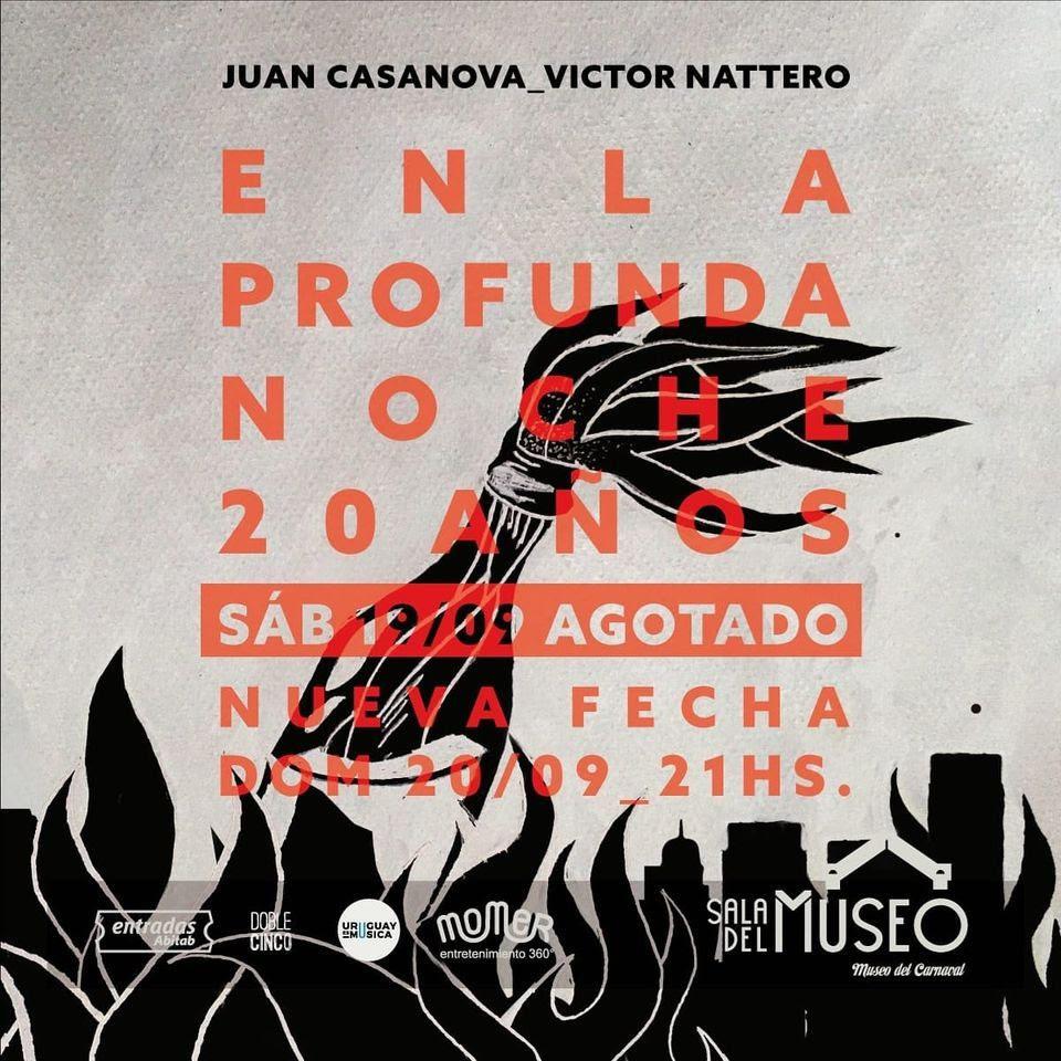 """Juan Casanova y Victor Nattero celebran en vivo """"En la profunda noche"""""""