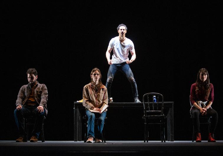 Nociones básicas para la construcción de puentes Un texto escrito por Jimena Márquez que refleja, en un ensayo con cuatro actores, la trascendencia que ha tenido la obra de Benedetti.