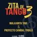 Por eso te invitamos a acompañarnos el 10 de octubre en Zita de Tango 3, la tercera edición de este ciclo creado por Proyecto Caníbal Troilo y Malajunta tango trío en la emblemática Sala Zitarrosa, casa de la canción popular, donde proponemos un encuentro con los nuevos autores del tango uruguayo.