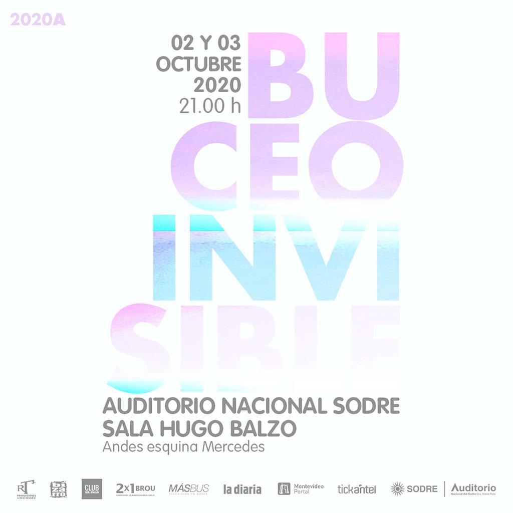 Viernes 2 de Octubre Sábado 3 de Octubre 20 hrs puerta 21 hrs show Auditorio del Sodre Sala Hugo Balzo Montevideo