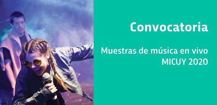 Convocatoria Muestras de música en vivo en el Mic