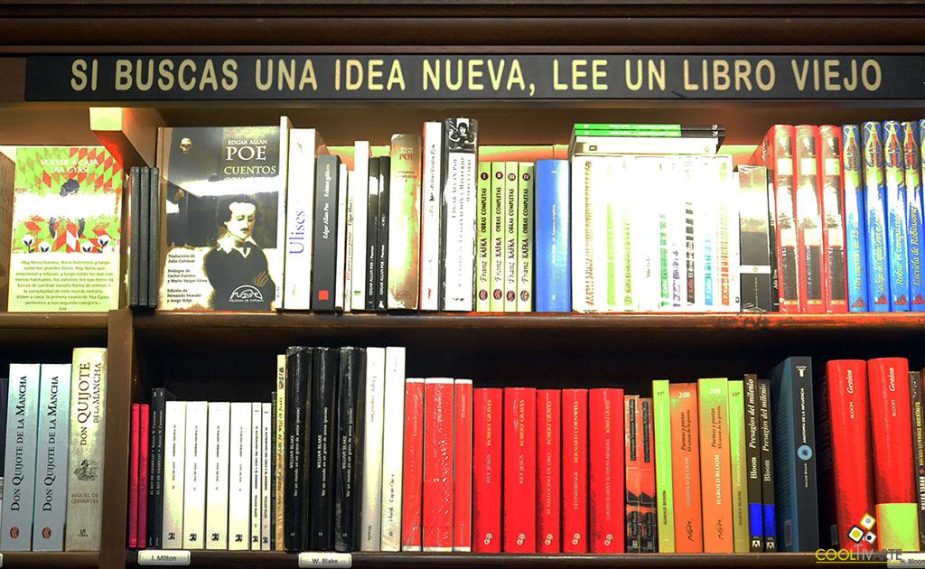 si buscas una idea nueva lee un libro viejo - refrán - Librería - mundos invisibles - foto federico meneses