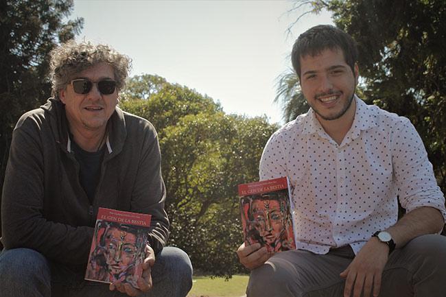 """El Gen de la Bestia: un libro de relatos breves, escrito por Pedro Copelmayer y Adrián """"fino"""" Sosa."""
