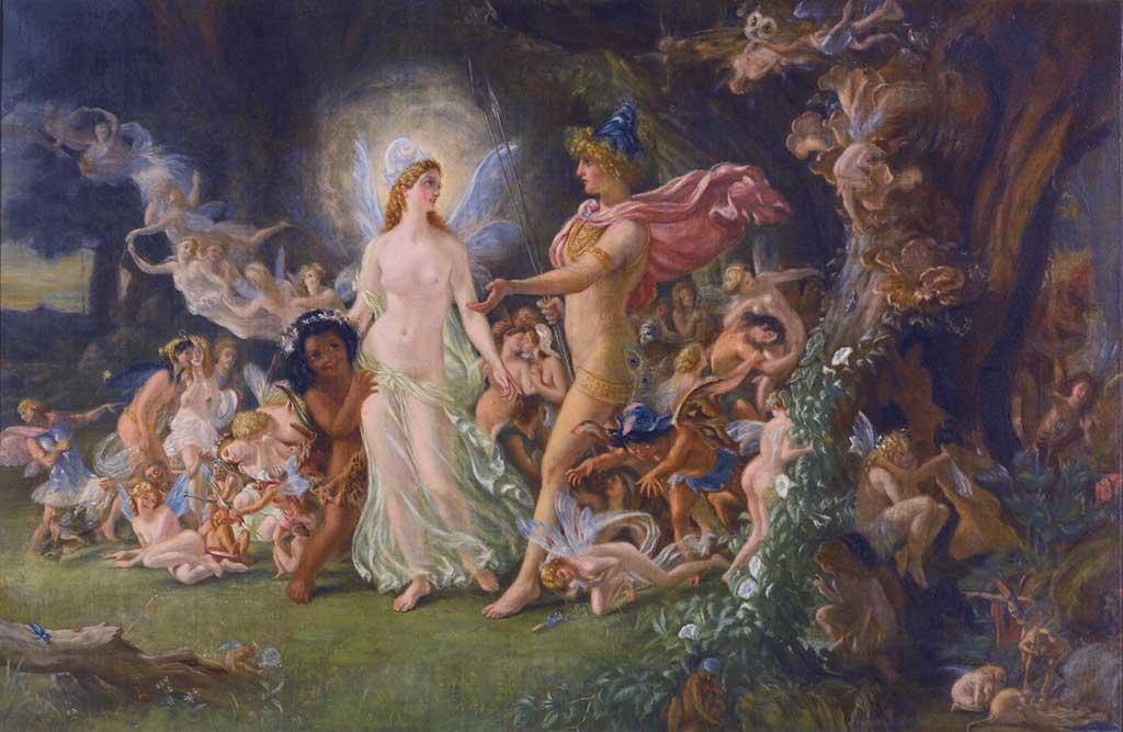 Joseph Noel Paton Estudio para La disputa entre Oberón y Titania Study for The Quarrel of Oberon and Titania ca 1849