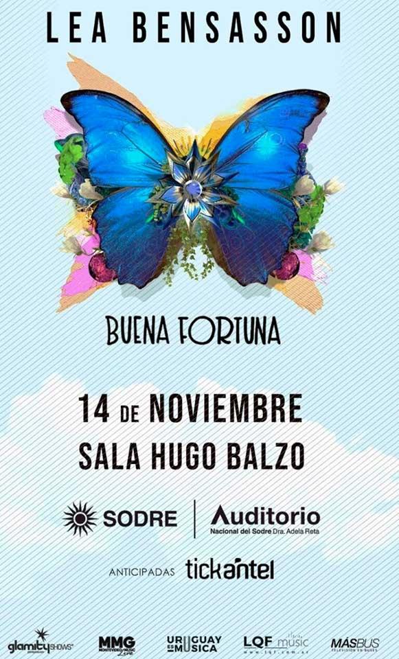 La cantora y compositora montevideana LEA BENSASSON presenta su disco BUENA FORTUNA en formato acústico.