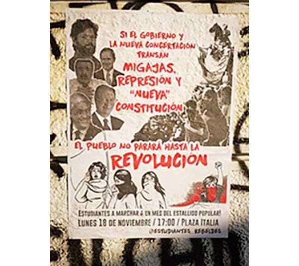 Imagen portada -Póster en contra del acuerdo político para iniciar un proceso constituyente en Chile 2020.wikipedia.org