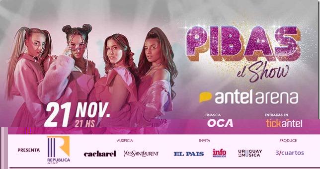 PIBAS El Show 21 de Noviembre - 21hs ANTEL ARENA