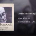 Defensa de la Alegría · Mario Benedetti