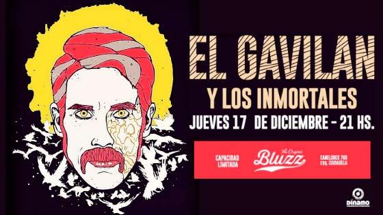 EL GAVILÁN en Bluzz Bar Jueves 17 de diciembre a las 21 hs