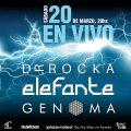 ELEFANTE, GENOMA & DR ROCKA en concierto