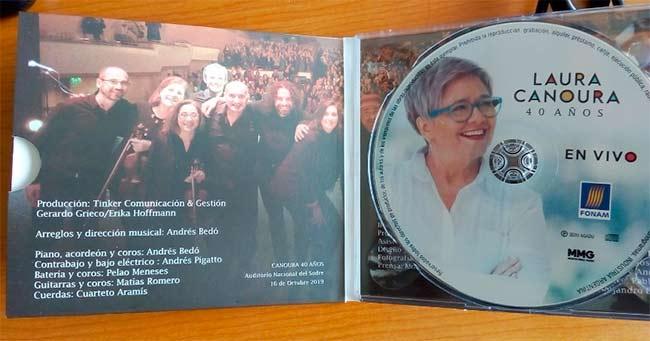 laura canoura 40 años - disco