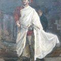 Don Juan desenvainando la espada en Don Giovanni de Mozart; cuadro de Max Slevogt: Francisco d'Andrade como Don Giovanni, 1912