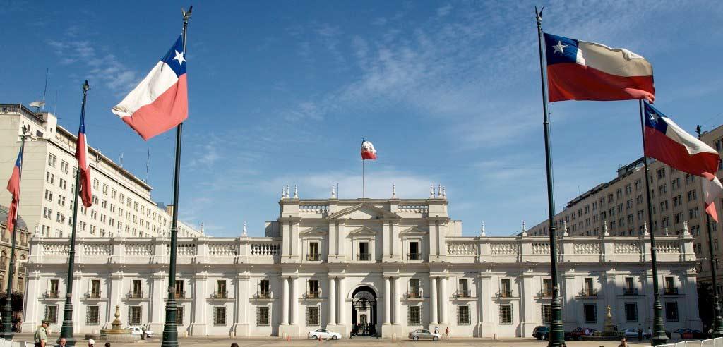 El Palacio de La Moneda, sede del Poder Ejecutivo chileno