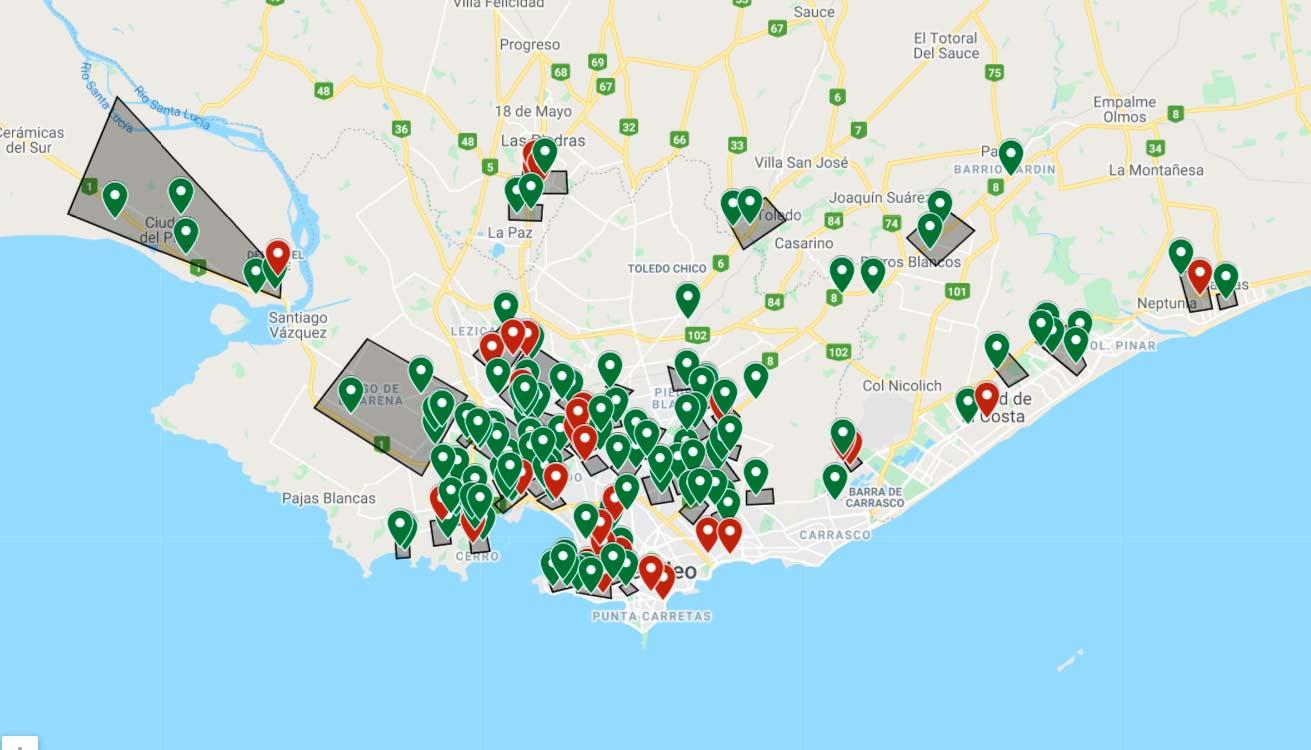 mapa olla popular - montevideo - marzo - 2021