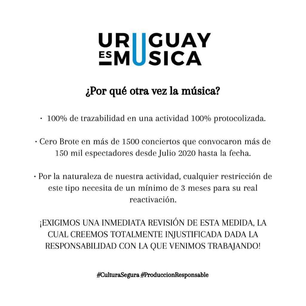 ¿Porqué otra vez la música? #CulturaSegura #ProduccionResponsable #UruguayEsMusica