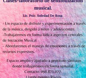 Laboratorios de Sensibilización e Iniciación musical