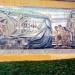 La ciudad de Santiago a Gabriela Mistral, mural en cerámica de Fernando Daza, ubicado en las faldas del costado sur del Cerro Santa Lucía, creado en 1971 y restaurado en 1997.