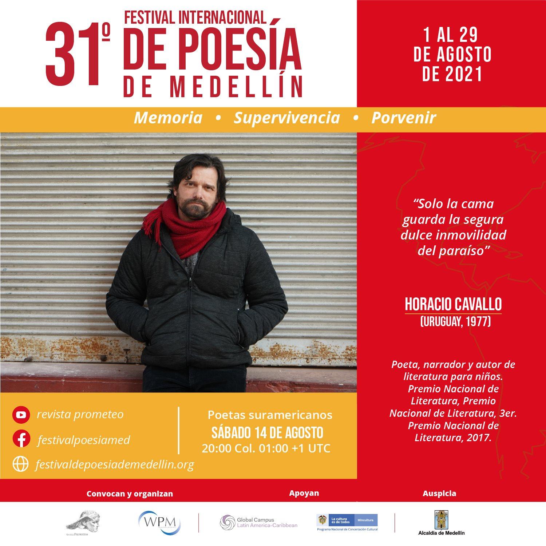 Horacio Cavallo en 31º Festival Internacional de Poesía de Medellín