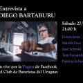 ENTREVISTAS DEL CLUB entrevistamos a Diego Bartaburu, baterista de No Te Va Gustar, una de las bandas más populares y fundamentales en el Rock de Latinoamérica en los últimos años.